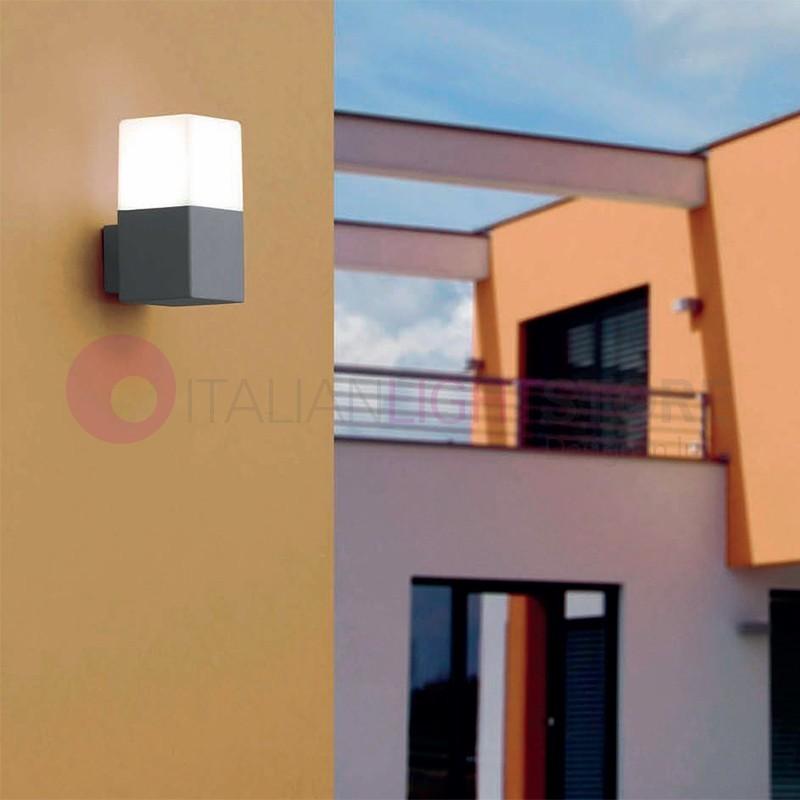 Tarraco lampada a parete da esterno design moderno ip44 faro - Lampada parete design ...