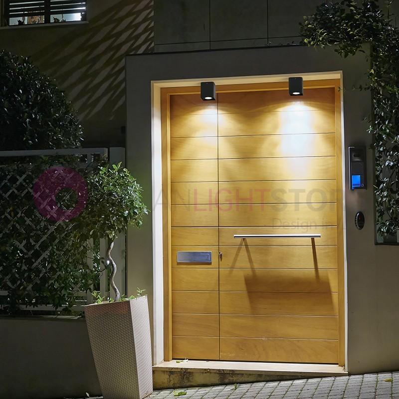 Tami plafoniera a led da esterno design moderno ip54 faro - Plafoniere da esterno ...