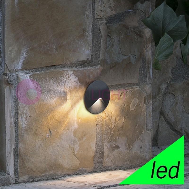 UVE Faretto Segnapasso Lampada da Incasso a LED da Esterno IP44