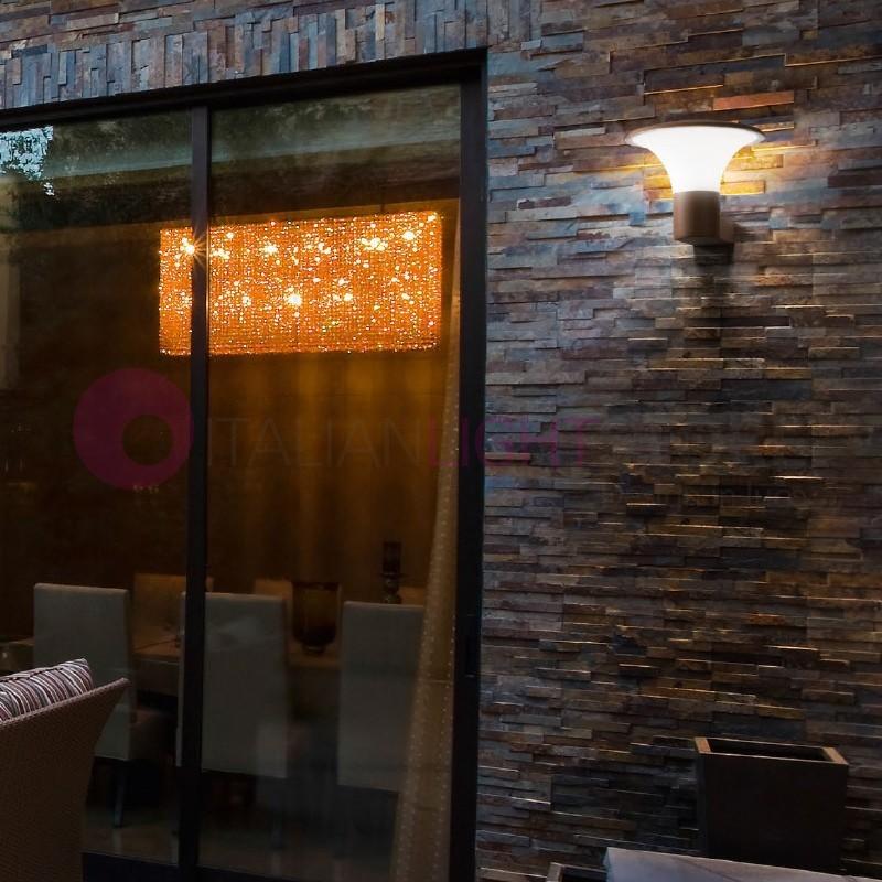 Houston lampada a parete da esterno design moderno ip44 - Lampada da parete design ...
