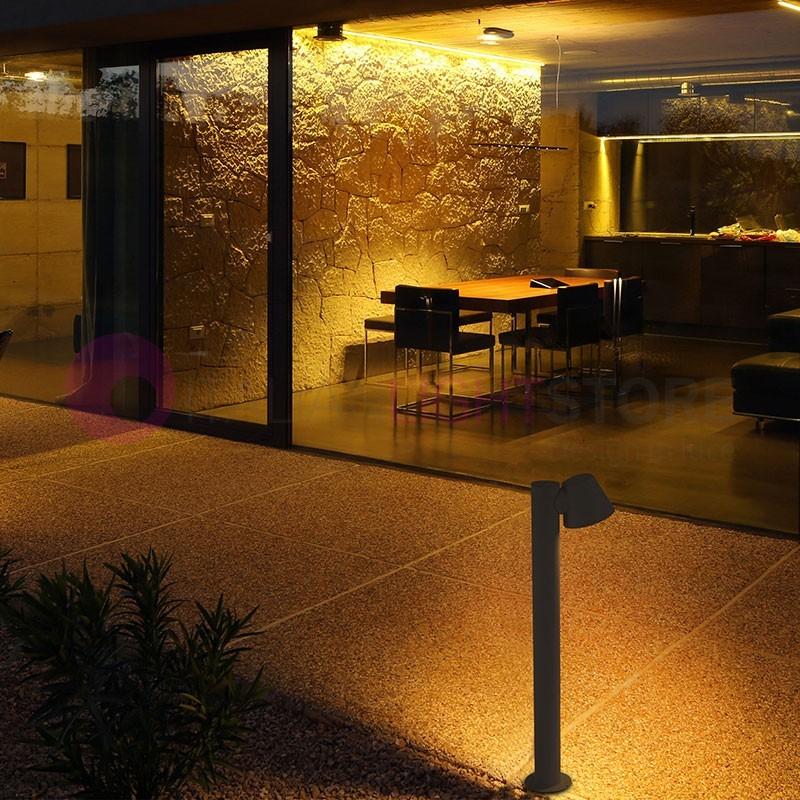 GINA Paletto Lampioncino da Giardino h. 70 cm. Design Moderno IP44