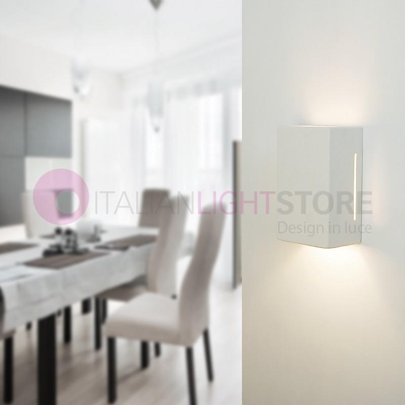 Applique gesso lampada da parete ceramica decorabile cubo rettangolare - Applique in gesso da parete ...