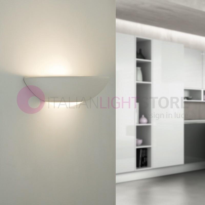 Applique lampada ceramica decorabile verniciabile - Applique in gesso da parete ...