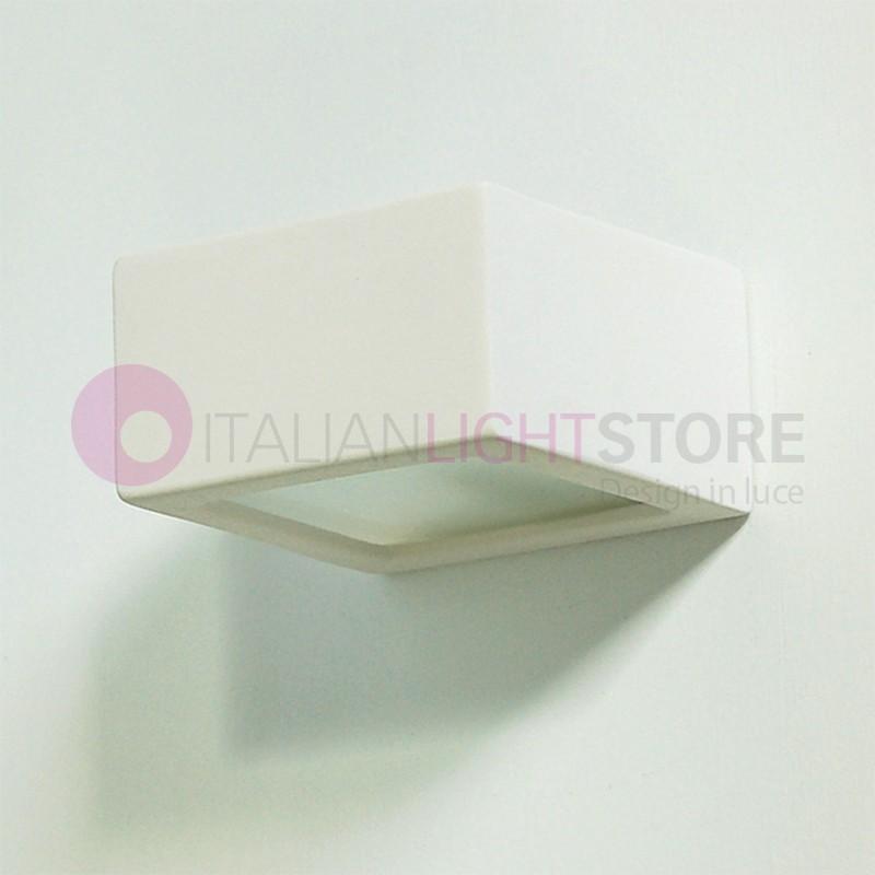 CUBETTO mini applique cubo in gesso da colorare design moderno