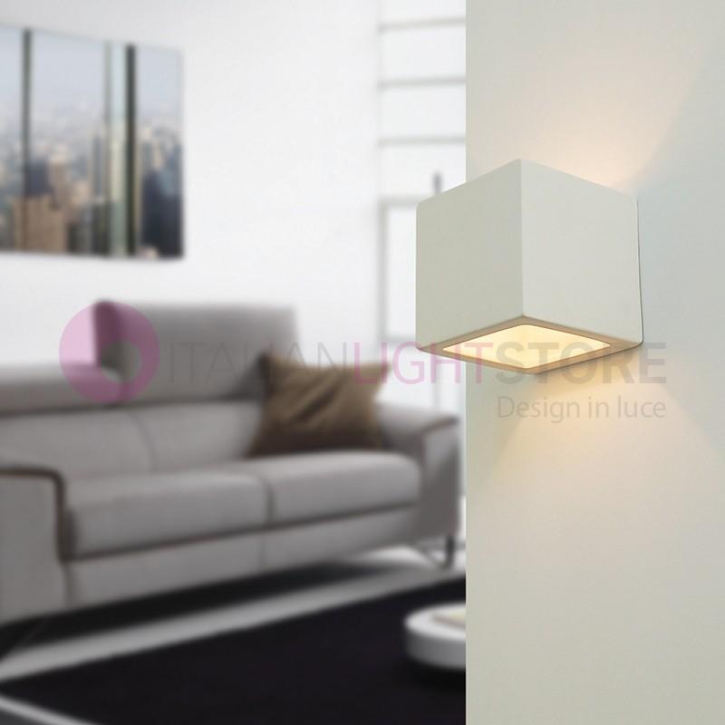 QUADRO mini applique cube design moderne en platre à peindre