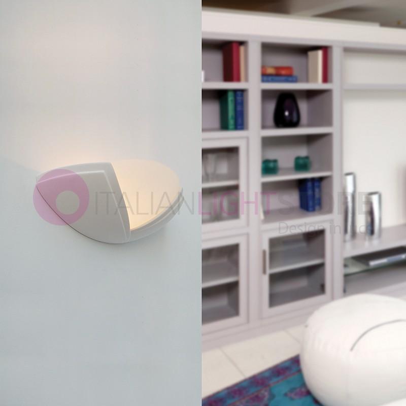 Applique lampada luce murale forma di ventaglio classica - Applique in gesso da parete ...