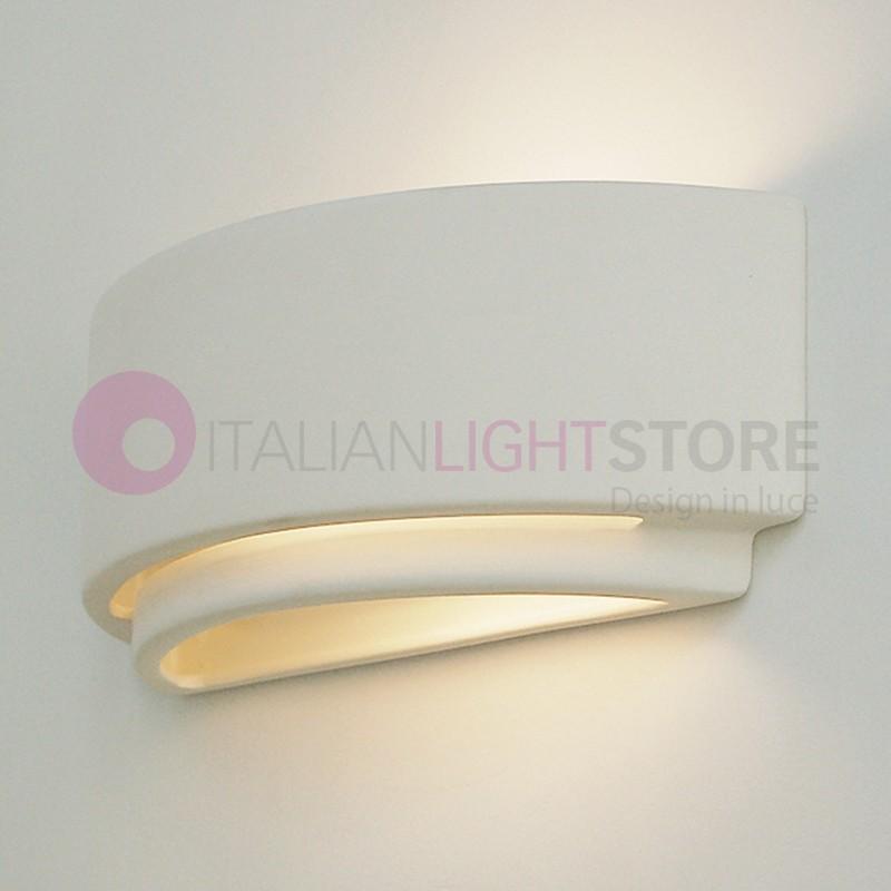SABRINA Paintable Ceramic Plaster Wall Washer Light