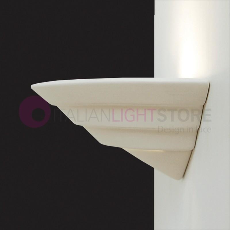 Applique murale interieur platre ceramique naturelle peindre - Applique platre murale ...