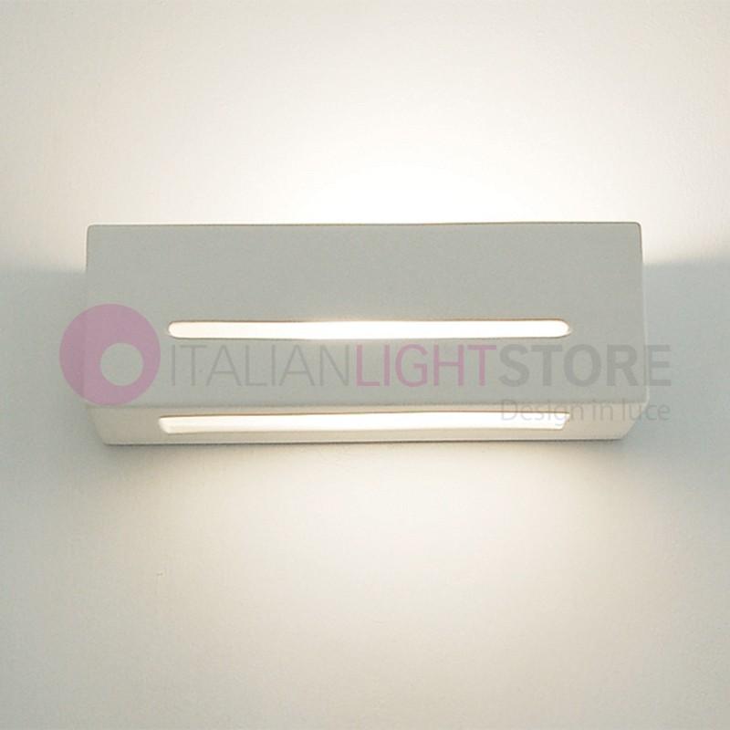 DAMASCO applique rectangulaire design moderne en platre avec verre