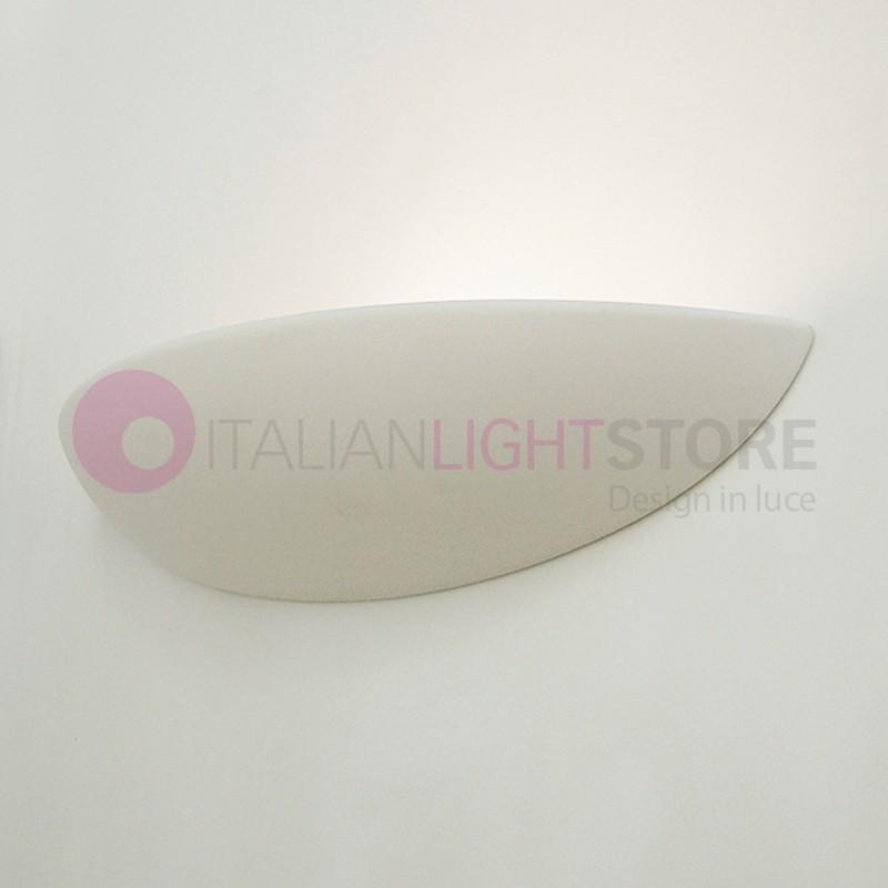 LISCIA/48 Applique Vaschetta Curva Allungata in Gesso Decorabile