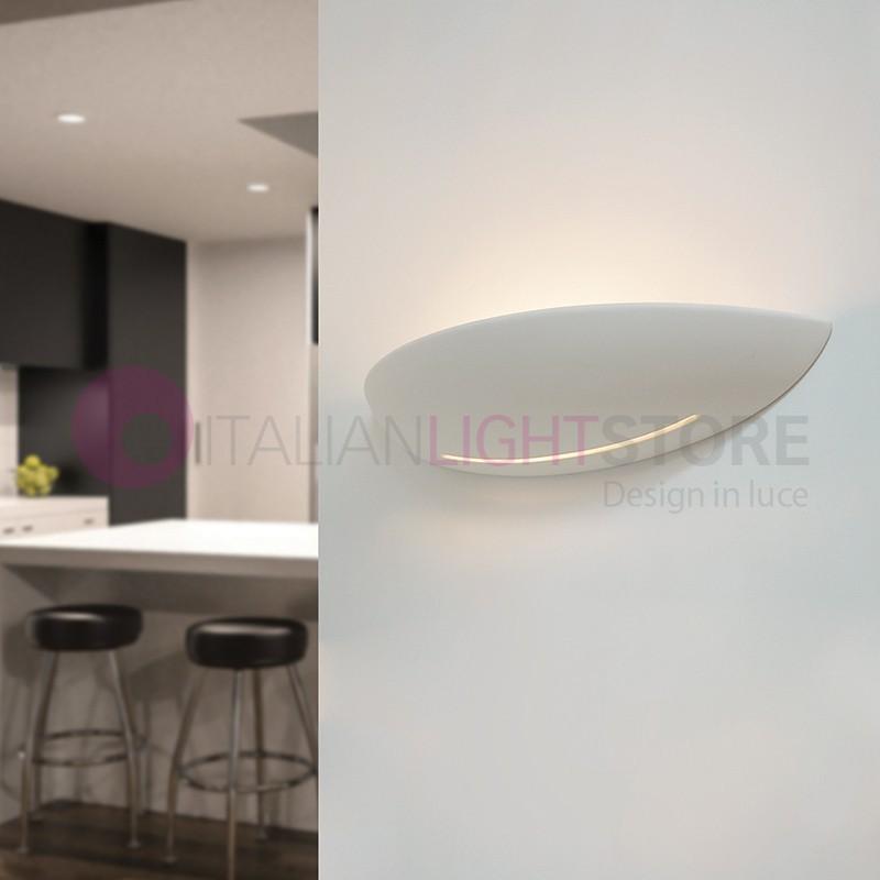 LISCIA/48T Applique Vaschetta Curva Allungata in Gesso Decorabile