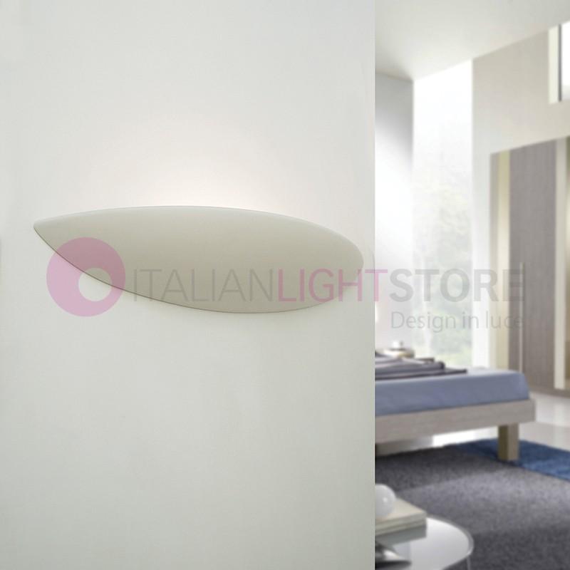 LISCIA/60 Applique Lunga Curvata in Gesso Ceramica Decorabile