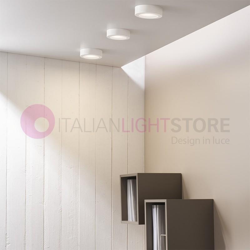 RING Mini Plafoniera Led D.15 Design Alluminio Bianco