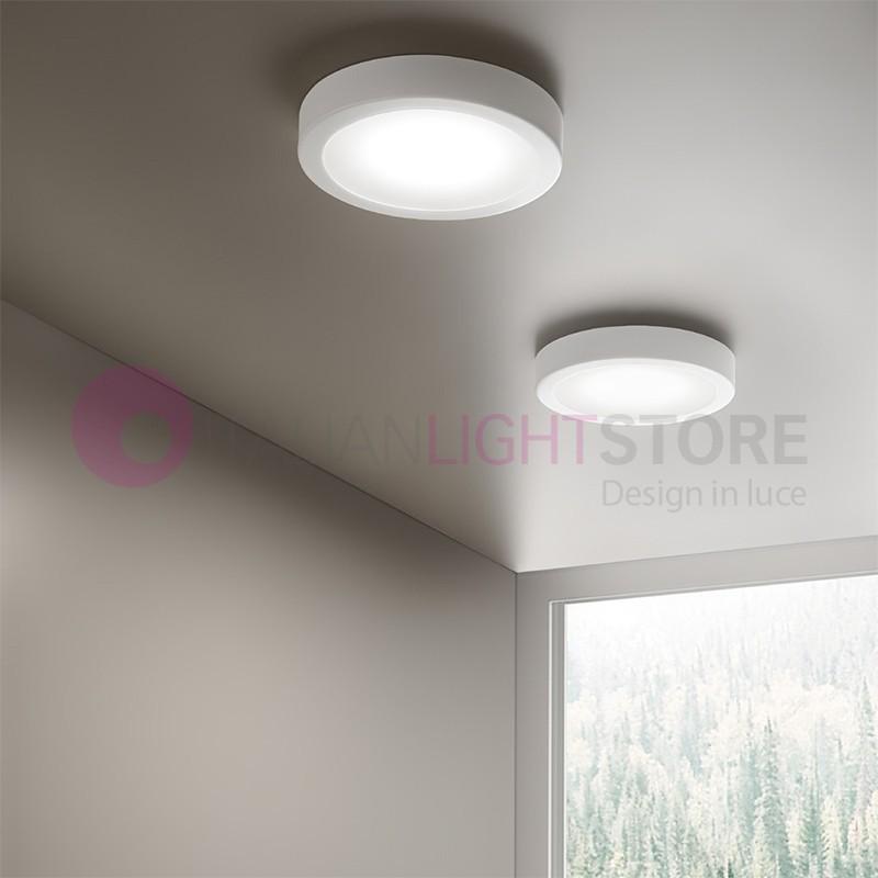 ANNEAU de Lampe de Plafond de LED Blanc Moderne D. 25 | Anneau Antea Lumière