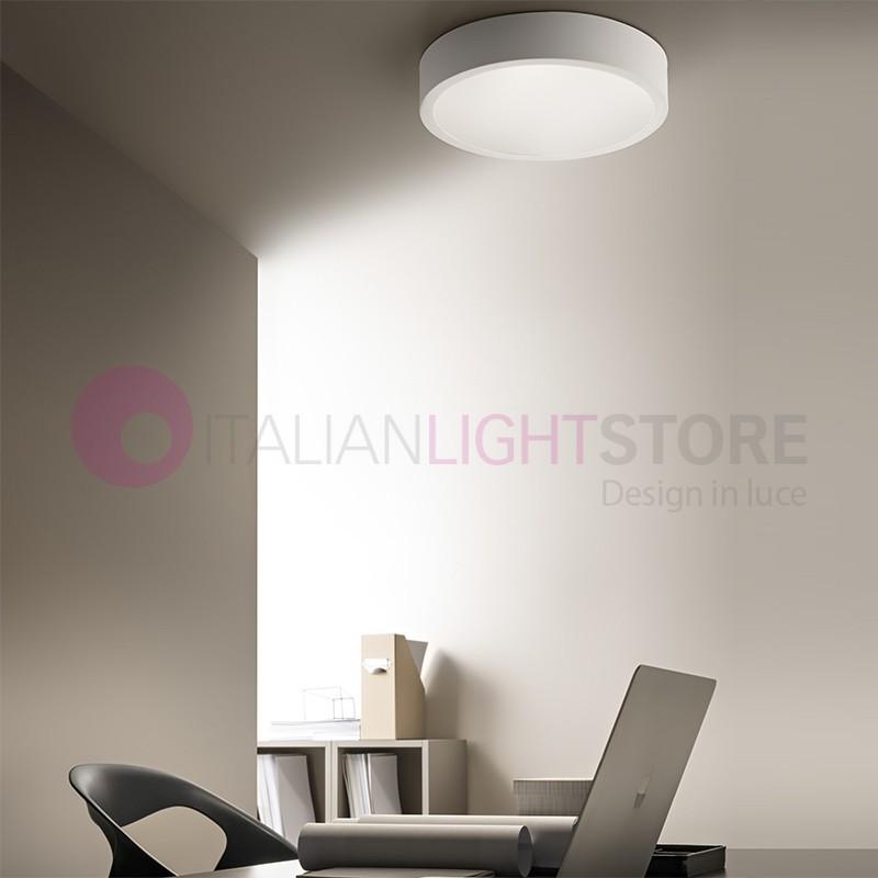 RING Plafoniera Led D.40 Design Alluminio Bianco