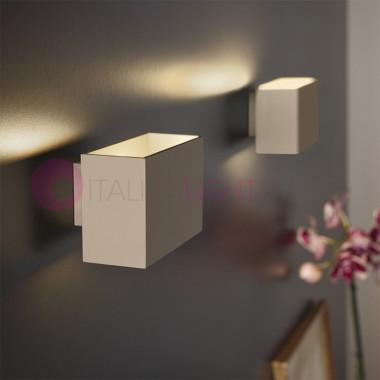 MINIMALE de la Lampe de mur de LED, cube Blanc ou dove grey, Minimal, Antea Lumière