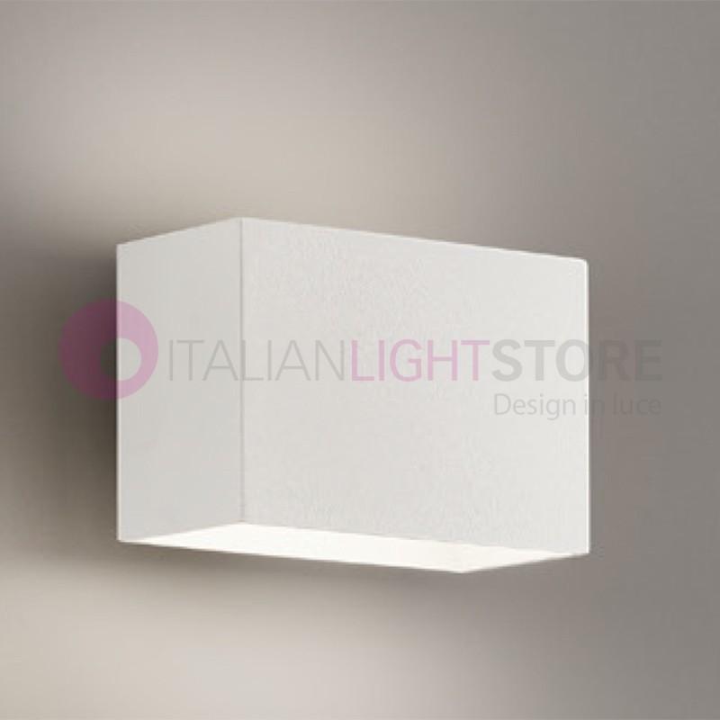 MINIMAL Lampada parete LED cubetto Bianco o tortora| Minimal Antea Luce