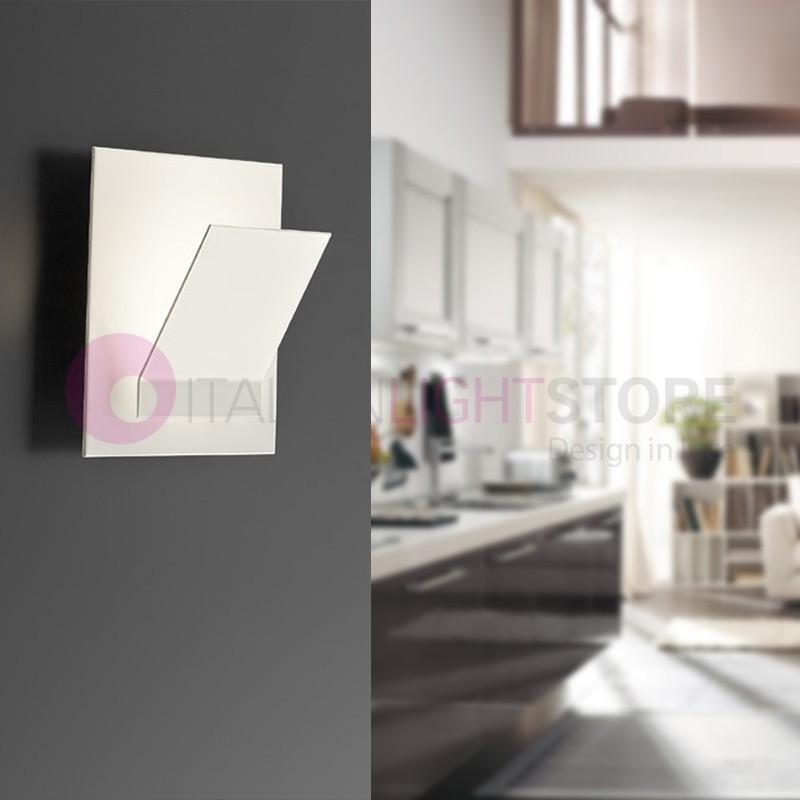 Plateau De La Lampe De Mur De Led Moderne Blanc Tablette Antea Lumière