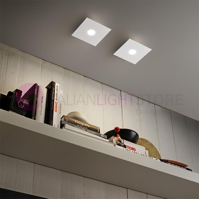 LOOP Mini Plafoniera Quadrata a Led bianco Design