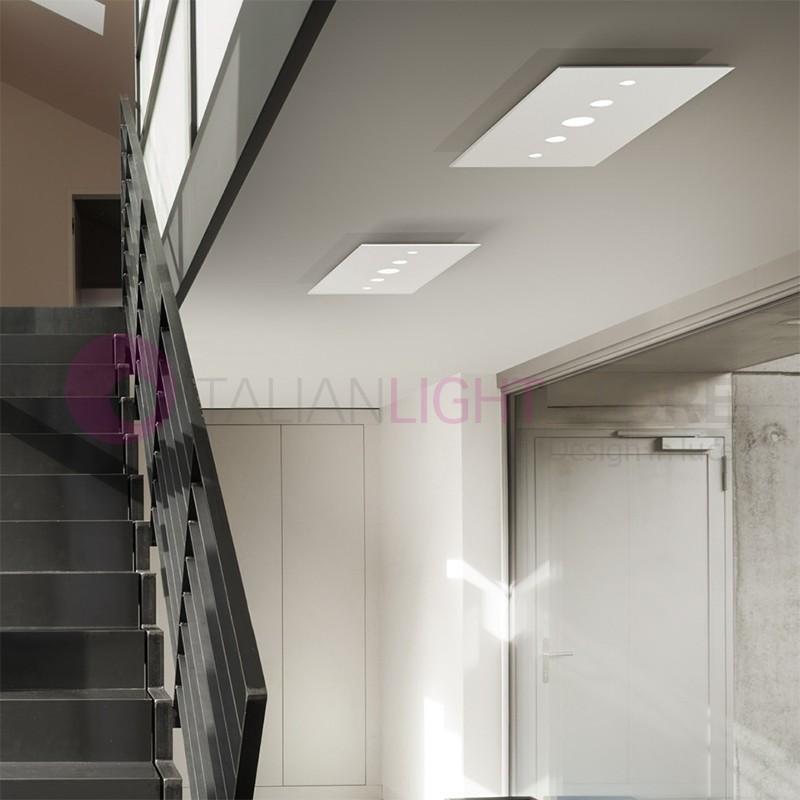 LOOP Plafoniera Lampada Moderna a Led bianco Design
