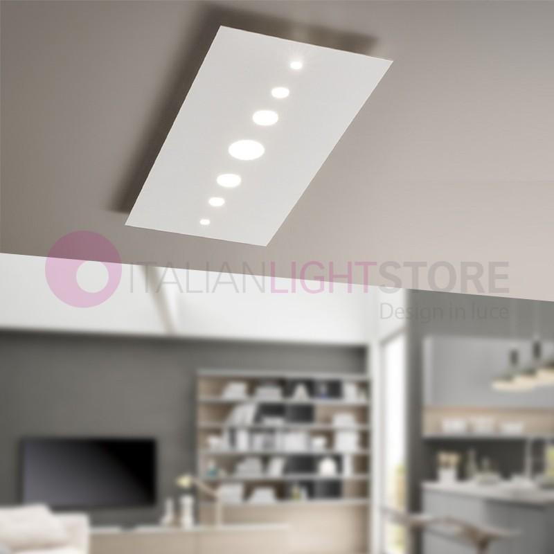 Boucle De Lampe De Plafond De Led Blanc Moderne 90x40 Boucle Antea
