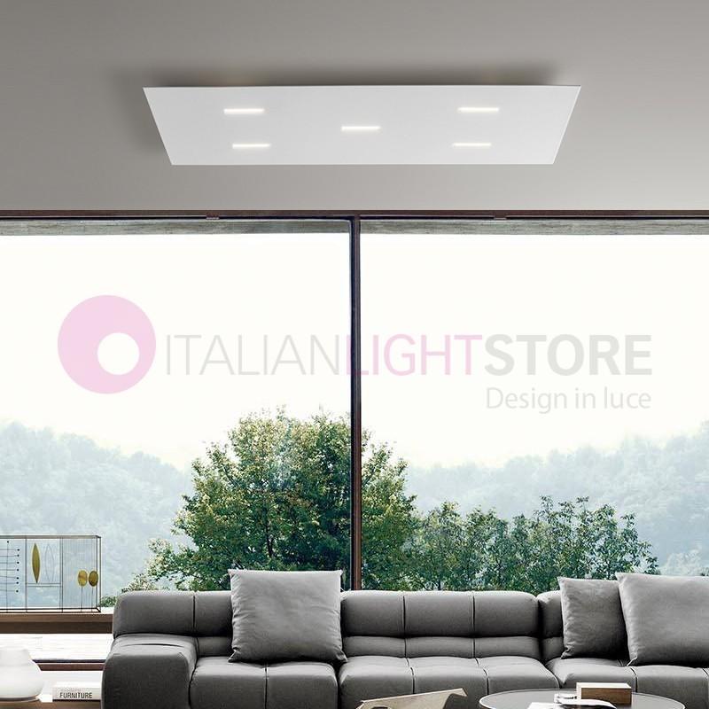Lampada plafoniera cromo moderno magnolia antea luce - Lampada led design ...