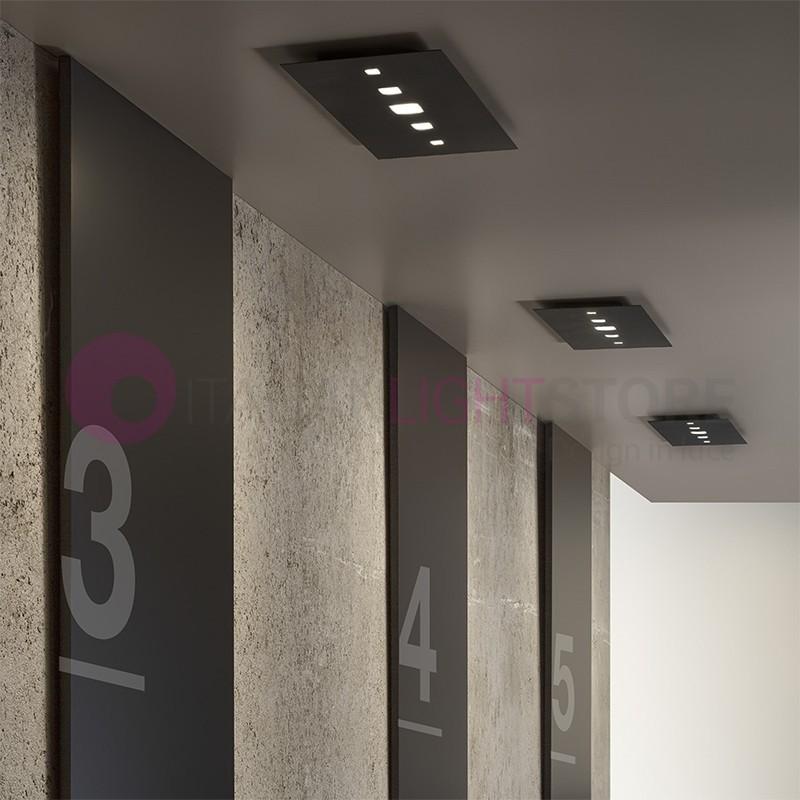 TIME  Plafoniera LED Ultrasottile Rettangolare 60x30 Design Moderno