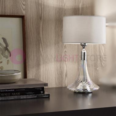 NOA Lampada da Tavolo D.25 in Vetro Cristallo Soffiato Antea Luce