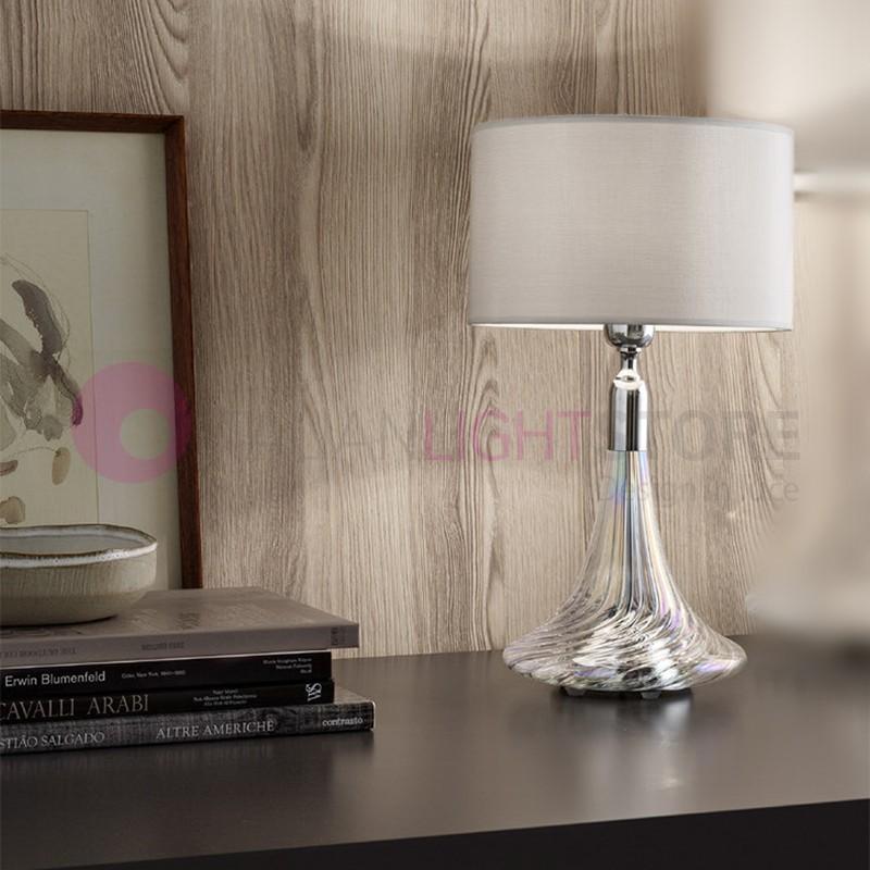 NOA Lampada da Tavolo D.25 in Vetro Cristallo Soffiato