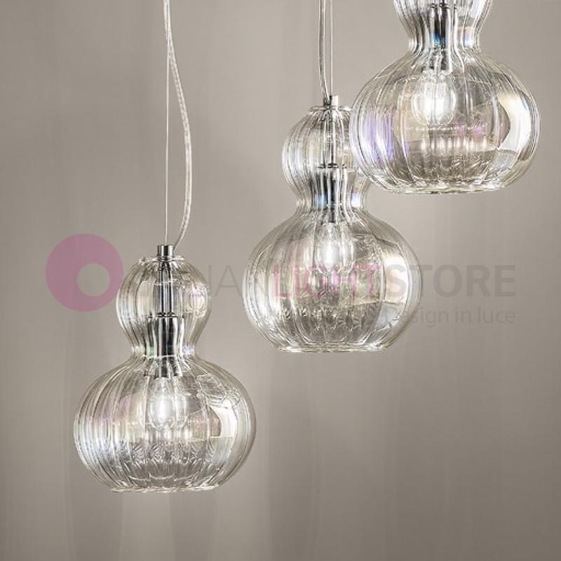 Lampade in vetro soffiato italianlightstore for Suspension 3 lumieres