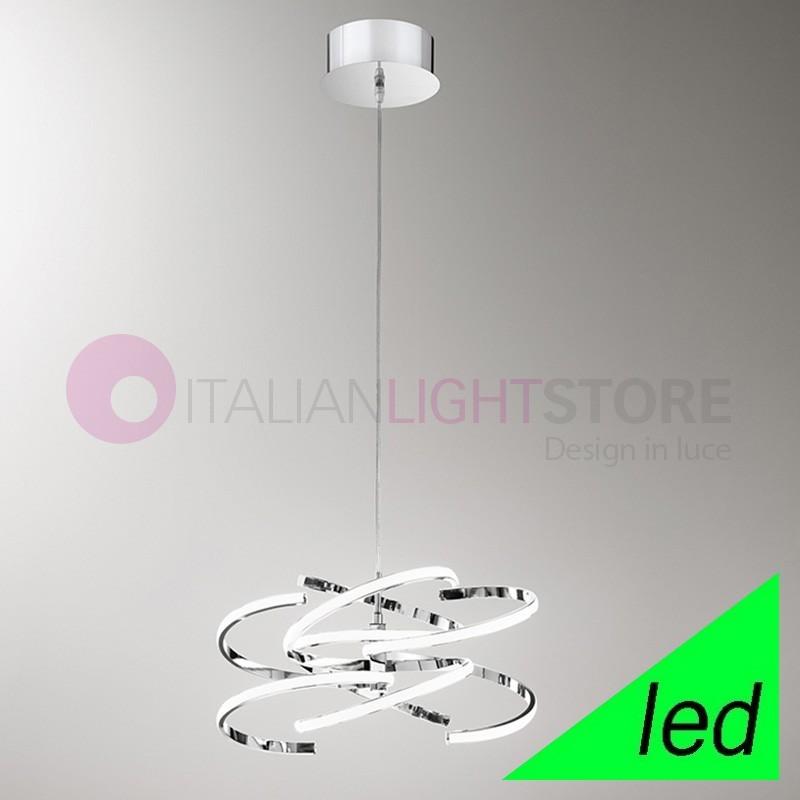 Lampadario A Led Moderno.Spirale Lampada A Sospensione A Led Design Moderno