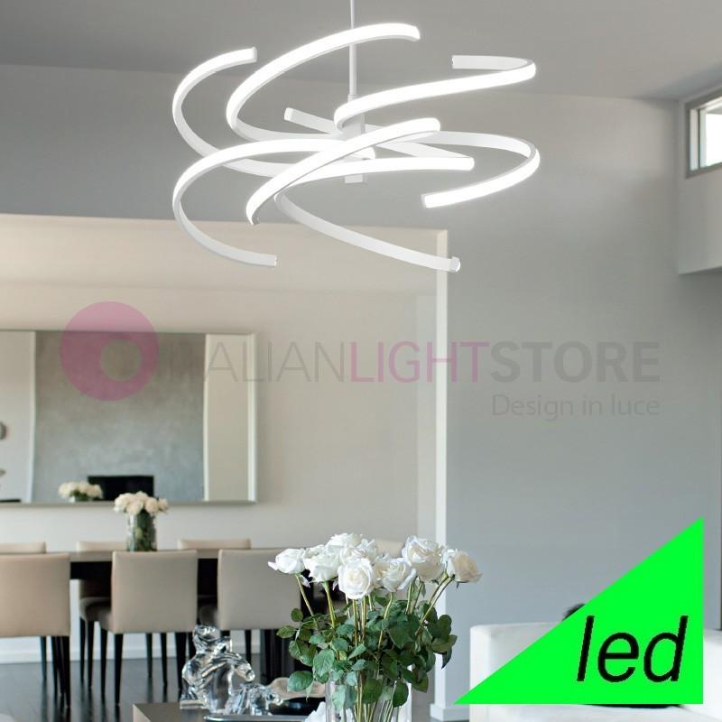 Lampade Sospese A Led.Spirale Lampada A Sospensione A Led Design Moderno