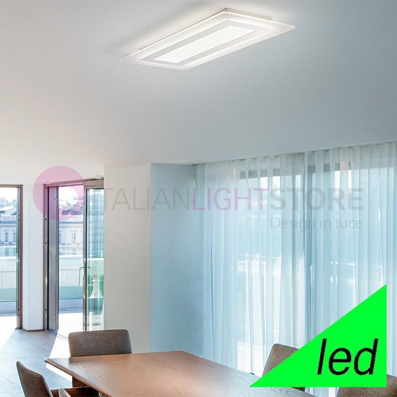 REGENT Plafoniera Lampada a Soffitto a LED L.70x30 Design Moderno