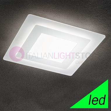 REGENT Lampada a Soffitto a LED L.48x48 Design Moderno | Perenz