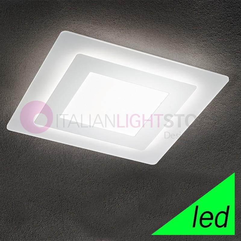 REGENT Plafoniera Lampada a Soffitto a LED L.48x48 Design Moderno