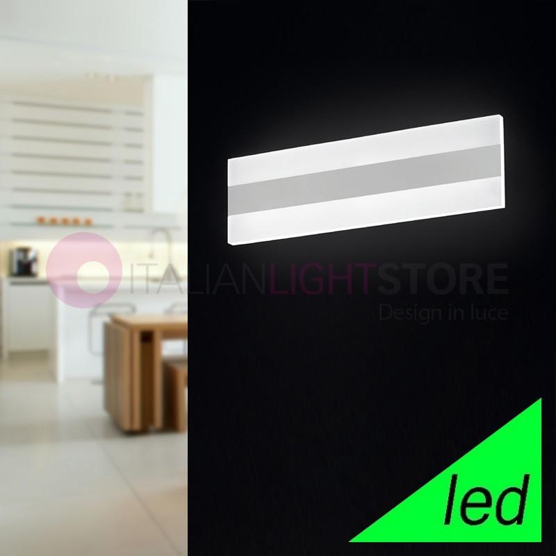 REGENT Applique Lampada a Parete a LED L.35x10 Design Moderno