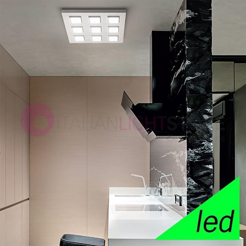 KENDO Plafoniera LED con 9 moduli orientabili L.50 Design Moderno