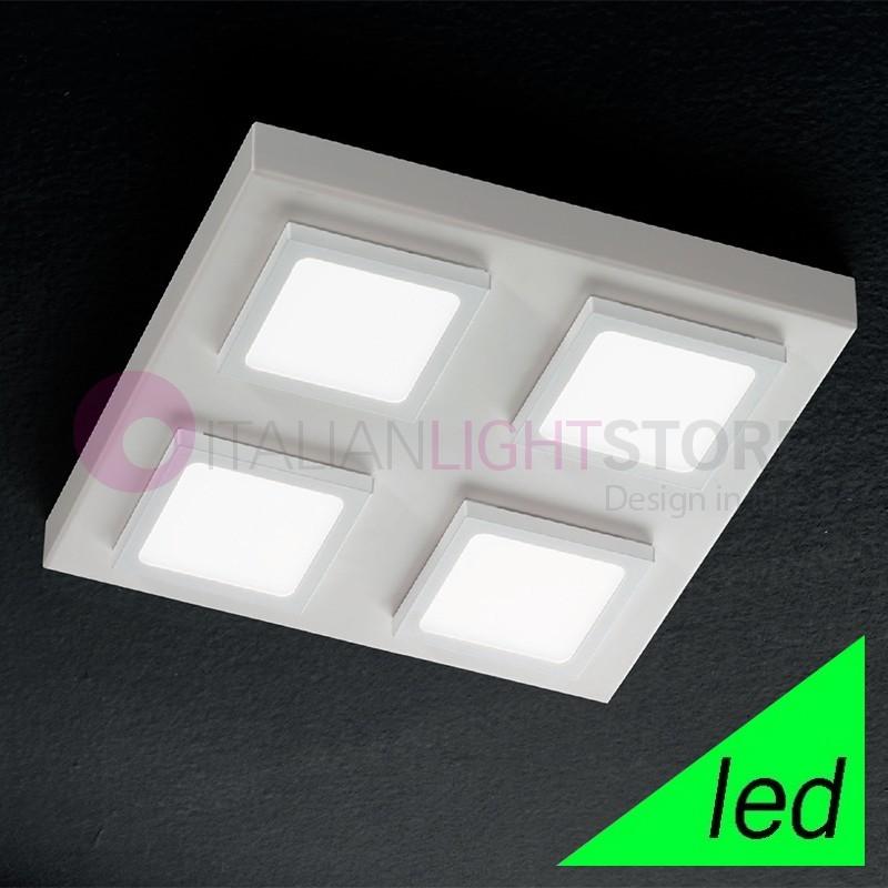 KENDO Plafoniera a Soffitto LED con moduli orientabili L.28 Design Moderno