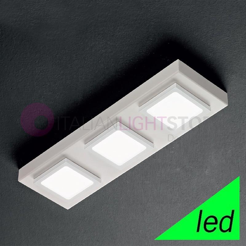 KENDO Plafoniera a Soffitto LED con moduli orientabili L.43x13 Design Moderno