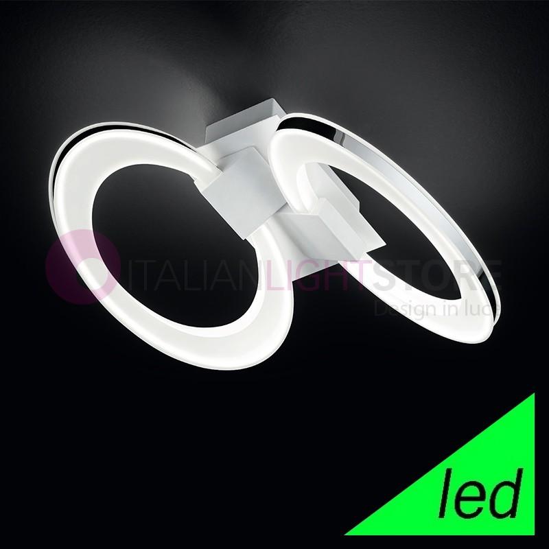 SPIRIT Plafoniera Lampada a Soffitto a LED 2 luci Design Moderno