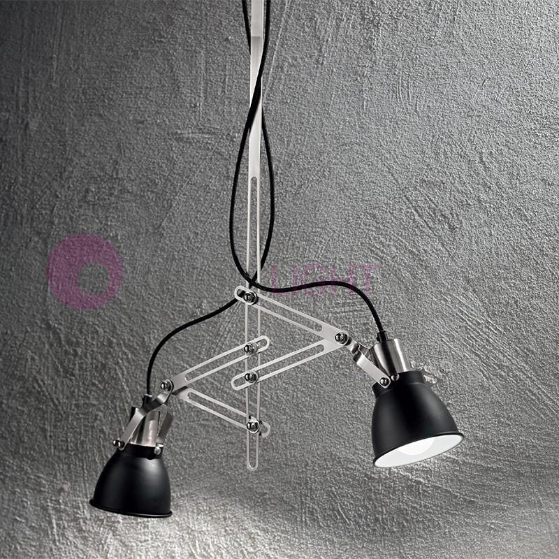 YORK Plafoniera Lampada a Soffitto Orientabile 2 luci Design Moderno