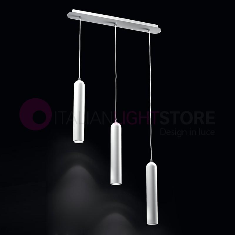 Tonus lampada a sospensione 3 luci moderna tavolo pranzo - Luci sospensione design ...