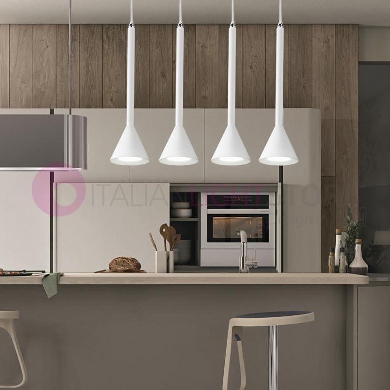 SKIP Lampada a Sospensione 4 luci Moderna Tavolo Pranzo | Perenz