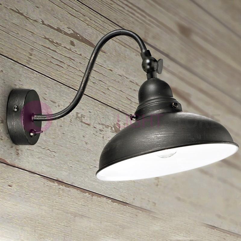GRAFFY Applique Lampada a Parete Moderna Stile Vintage Industriale