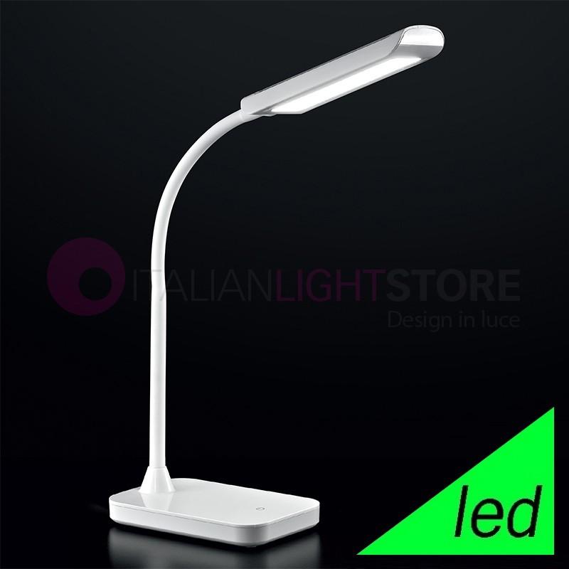 DESK TIME Lampada da Tavolo a LED Bianca Design Moderno