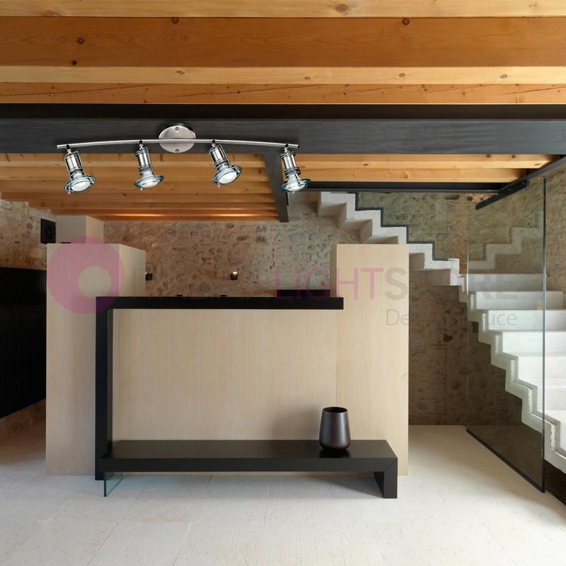 VEGAS Faretto Moderno a Soffitto 4 Luci Orientabili