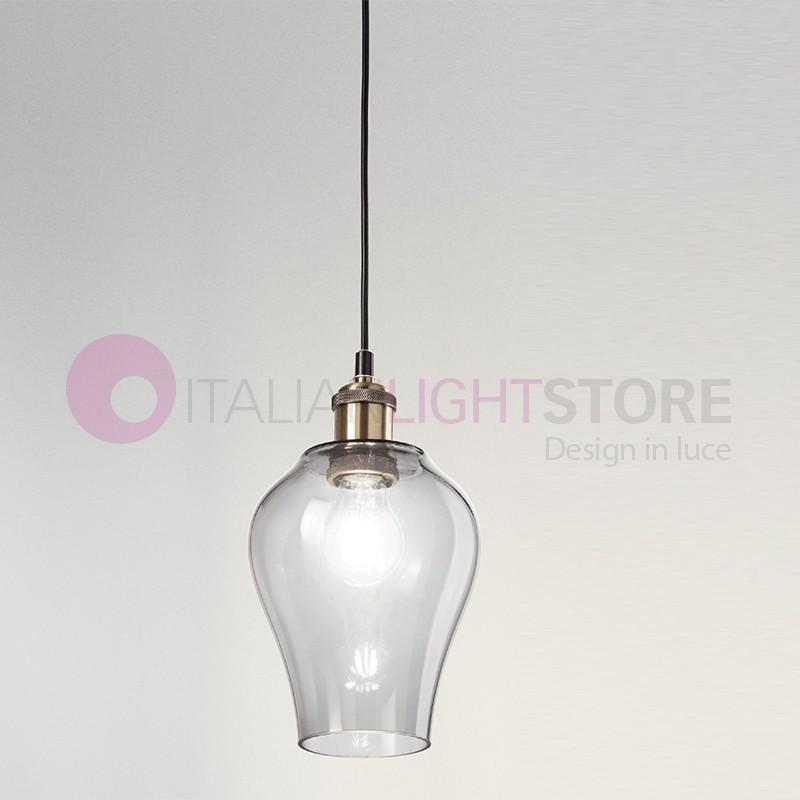 WIND Suspension Lamp 5 lights Blown Glass Vintage   Perenz