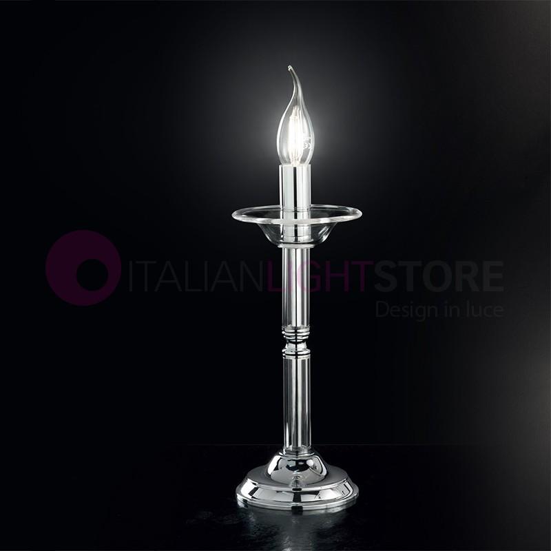 ducal lampe lampe de table classique en verre blanc ou. Black Bedroom Furniture Sets. Home Design Ideas