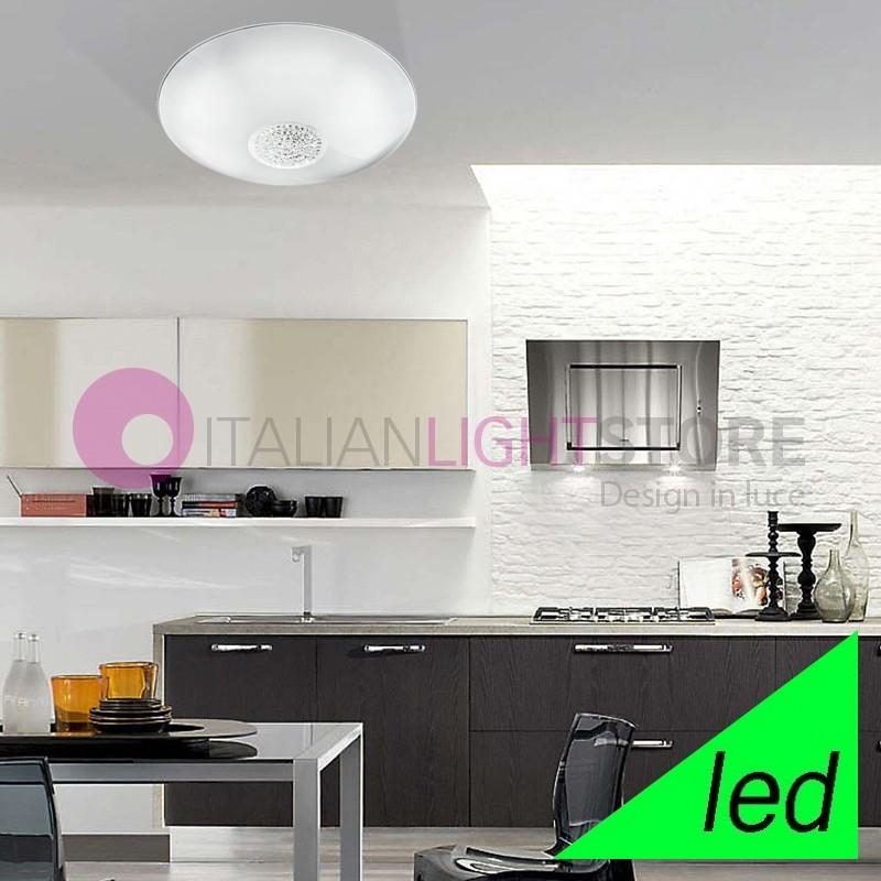 ARMONIA Plafoniera Lampada a Soffitto a LED D. 50 con cristalli