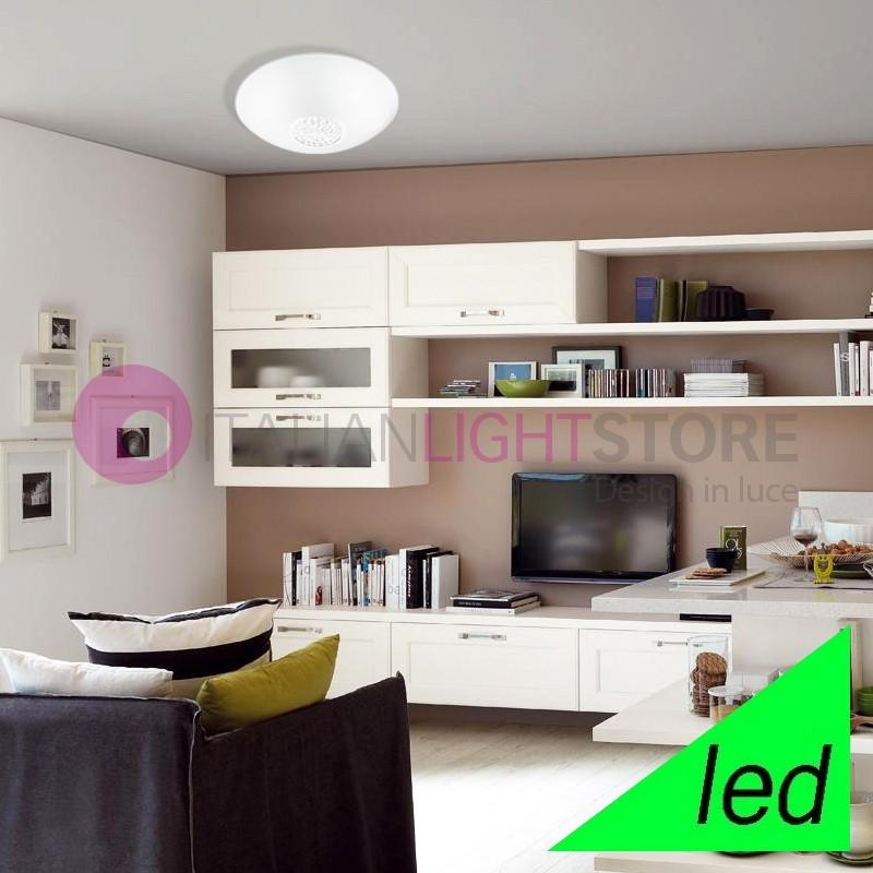 ARMONIA Plafoniera tonda a LED D30 vetro con cristalli | Perenz